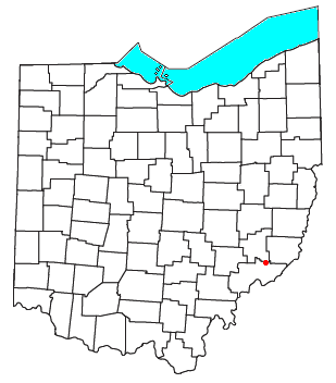 Location of Germantown in Washington County, Ohio