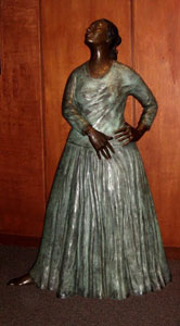 'Natoma', patinated bronze sculpture of a Navajo dancer by --R. C. Gorman--, --East-West Center--, Honolulu, Hawaii