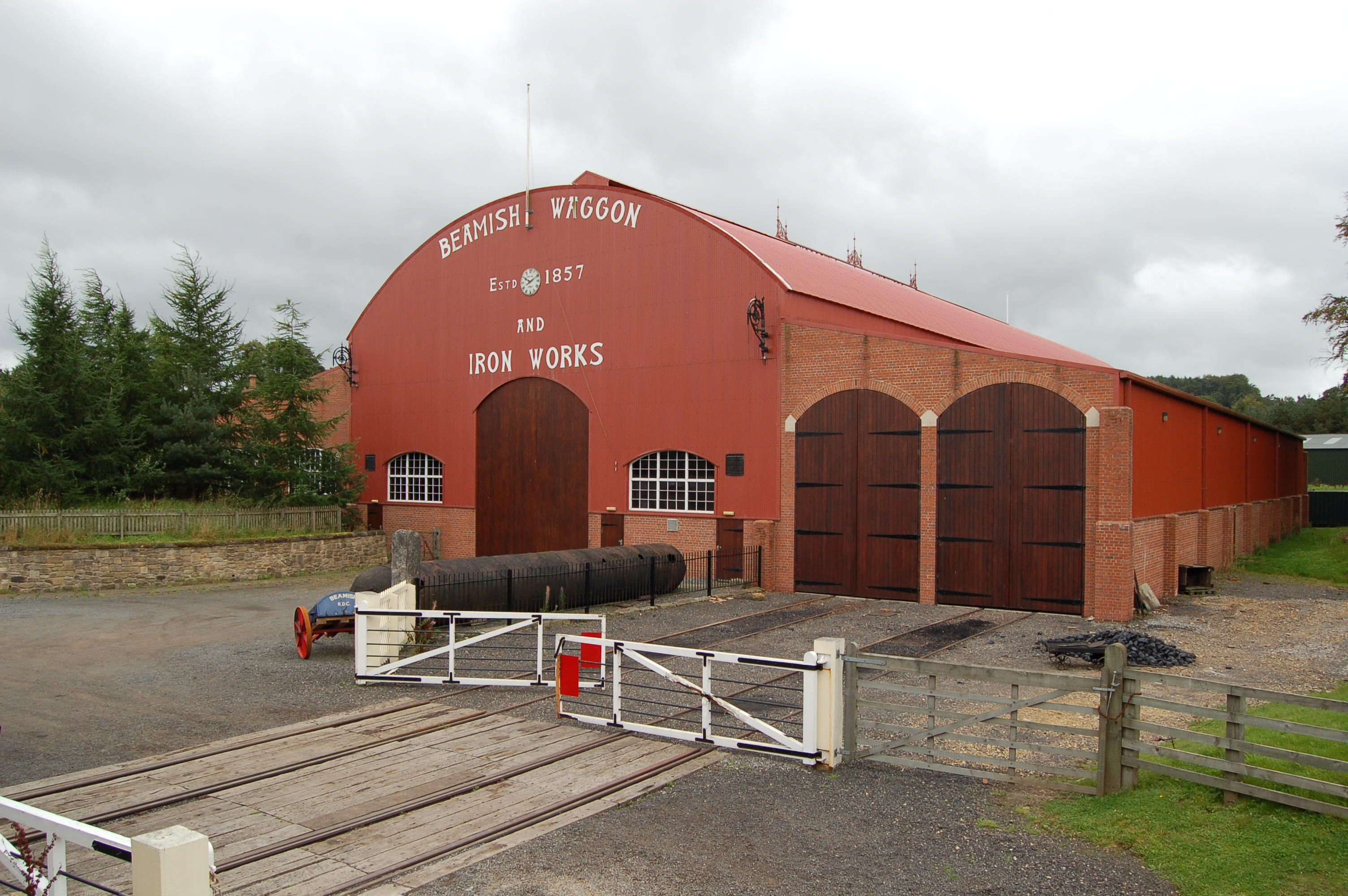 File:Consett tank wagon, Town railway goods yard, Beamish