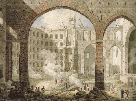 Teatro San Carlo-Naples-after 13 Feb 1816 fire