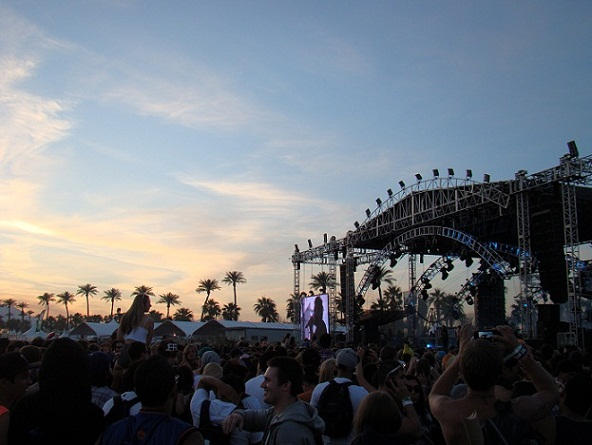 The Weeknd performing at Coachella 2012