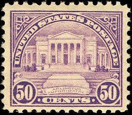 Arlington Amphitheater 1922 U.S. stamp.1