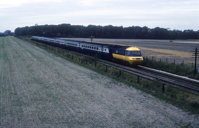 Diverted express seen from the B1368 bridge - geograph.org.uk - 1659355