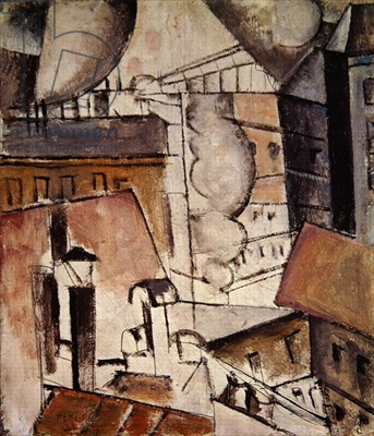 Fernand Léger, 1911, Roofs in Paris, oil on canvas, private collection