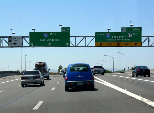 Interstate 17 southern terminus in Phoenix