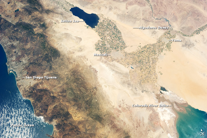 The Salton Trough region from orbit