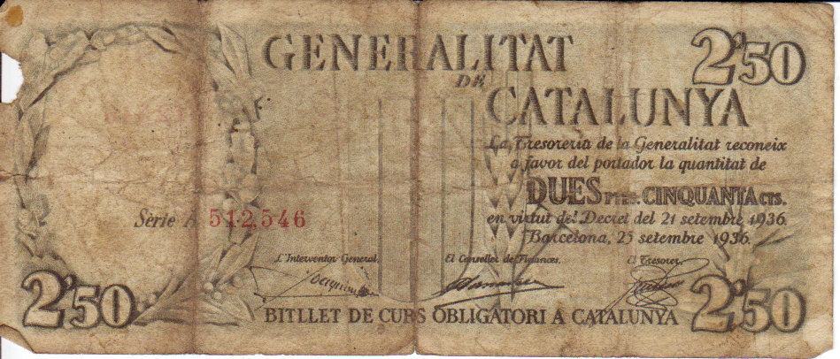 Catalonia-bank note-observe
