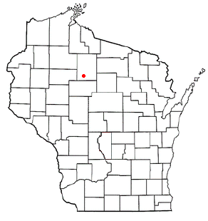 Location of Catawba (town), Wisconsin