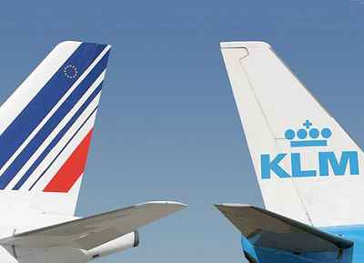 Air France & KLM vertical stabilizers