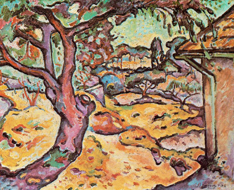 Georges Braque painting The Olive tree near l'Estaque stolen from the Musée d'Art Moderne de la Ville de Paris
