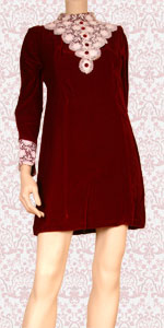 Red velvet mini dress 1435042510