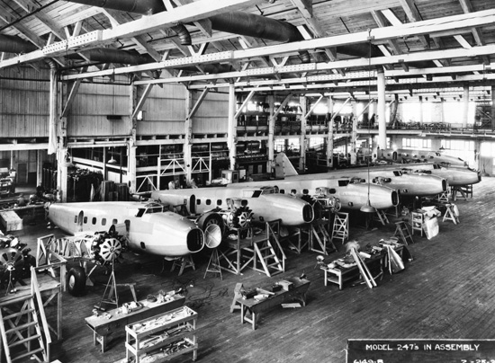 Boeing 247 factory