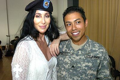 Cher at Landstuhl Regional Medical Center 2006