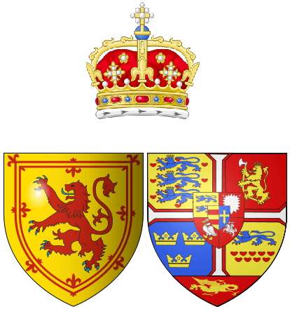 Coat of arms of Anne of Denmark as Queen consort of Scots
