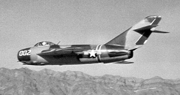 4477th Test and Evaluation Squadron MiG-17F in flight