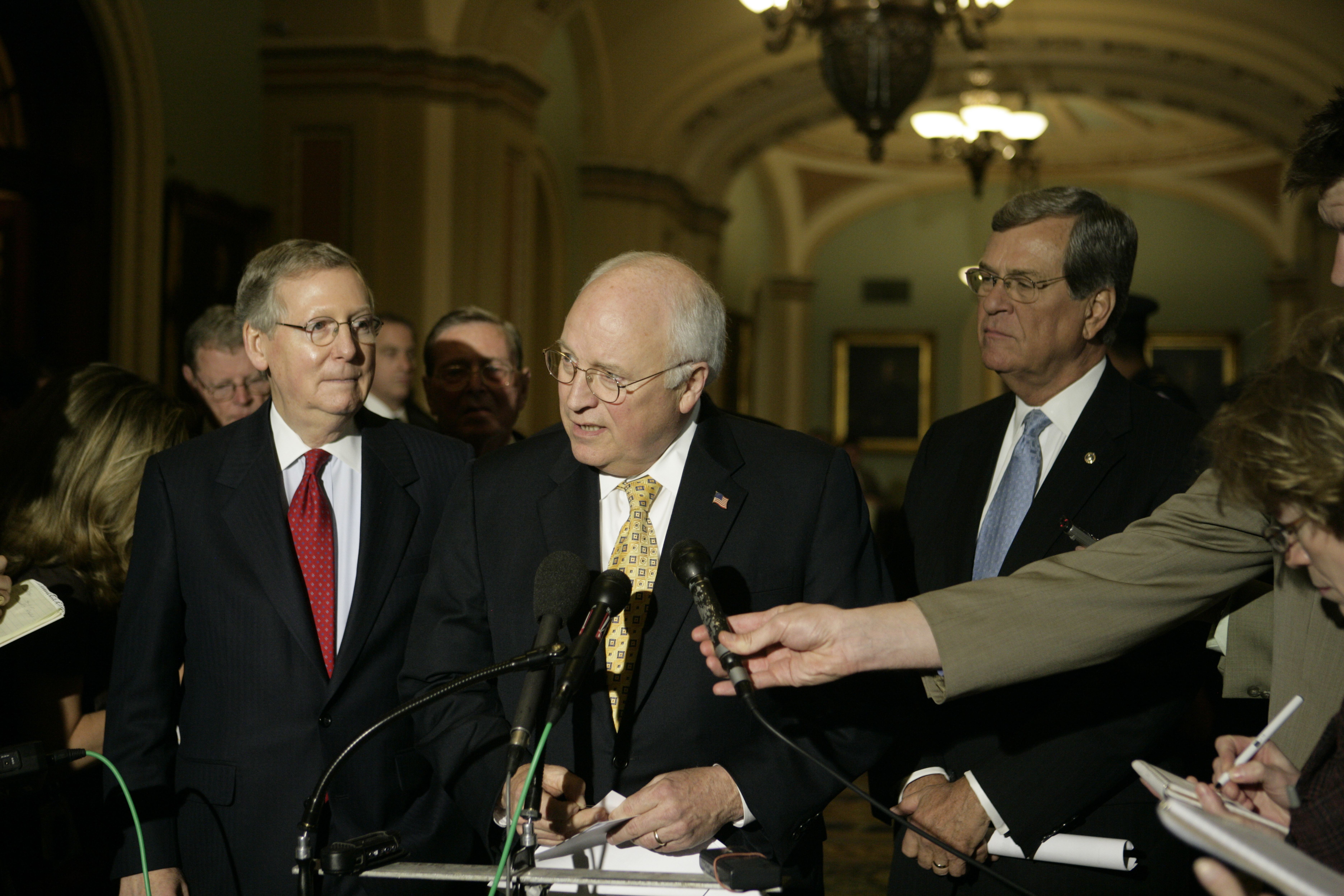 Dick Cheney Mitch McConnell Trent Lott 2007