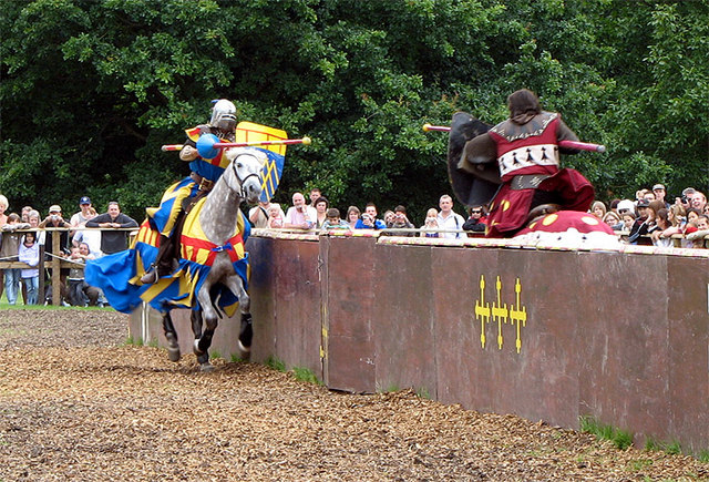 Jousting at Warwick Castle - geograph.org.uk - 562430