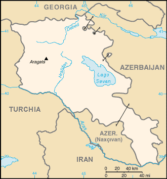 Armenia locator map ITA