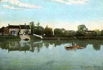 Farndon ferry 1907 postcard