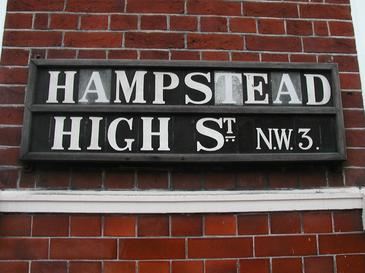 Hampstead High Street Sign