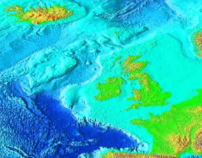 Northeast Atlantic bathymetry