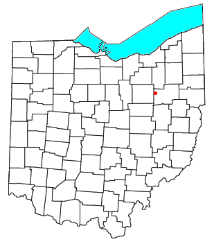 Location of North Lawrence, Ohio