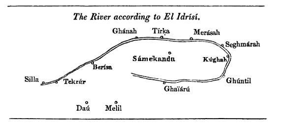 Senegal River according to al-Idrisi