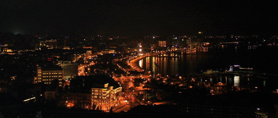 View of night Baku, 2010