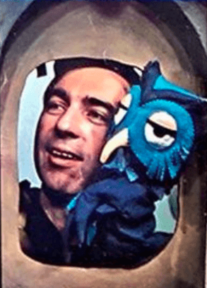 Fred Rogers and X the Owl Look Magazine photo 1969