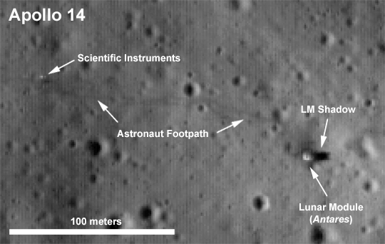 LRO Apollo14 landing site 369228main ap14labeled 540
