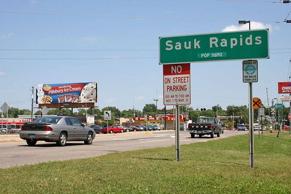 Sauk rapids sign