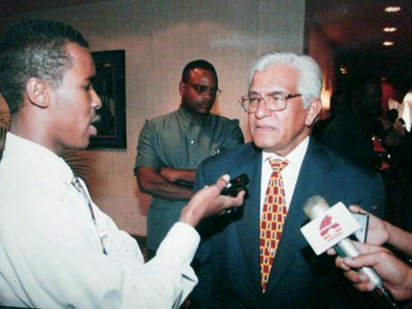 Sampson Nanton interviews former Prime Minister of the Republic of Trinidad and Tobago, Basdeo Panday in 1997