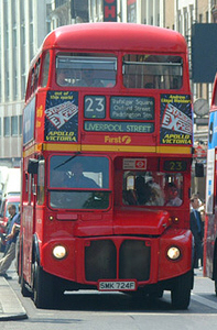 First Centrewest Routemaster bus RML2724 (SMK 724F), Route 23, Strand
