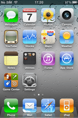 IOS 4 Homescreen