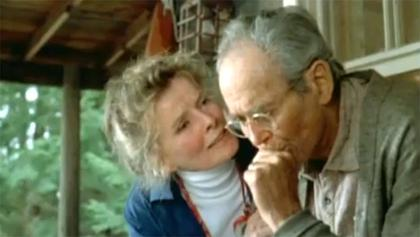 Hepburn Fonda On Golden Pond