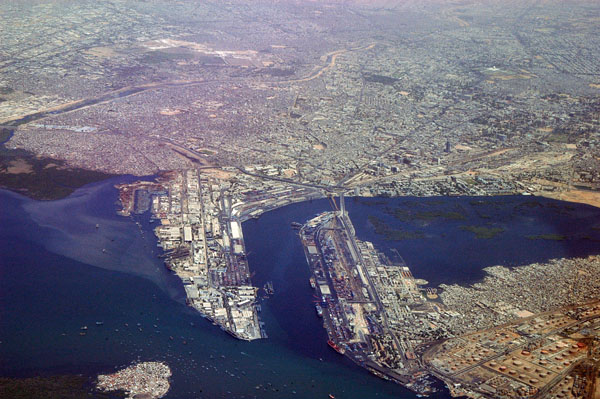 Karachi port and harbour aerial