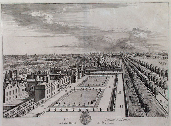 St James's Palace and The Mall Kip 1715