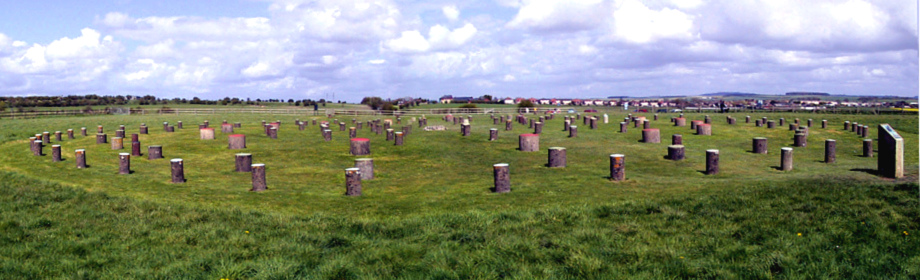 Panorama of the complete Woodhenge site.