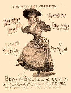 Image-Lottie Collins sings and dances to the tunes of Ta-Ra-Ra Boom-de-ay in a Bromo-Seltzer ad