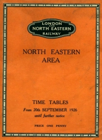 LNER railway timetable North Eastern area for Autumn 1926