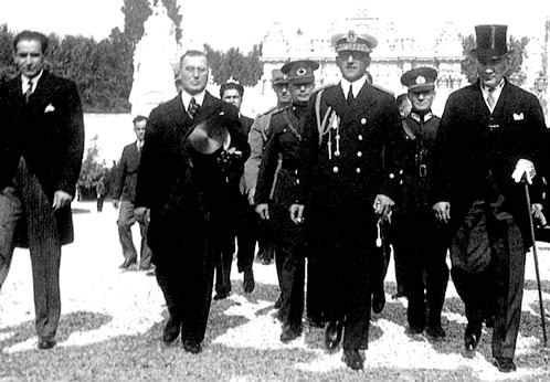 Alexander I of Yugoslavia and Mustafa Kemal in 1933