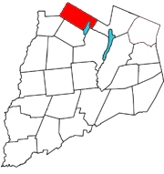Otsego County map with the Town of Richfield in Red