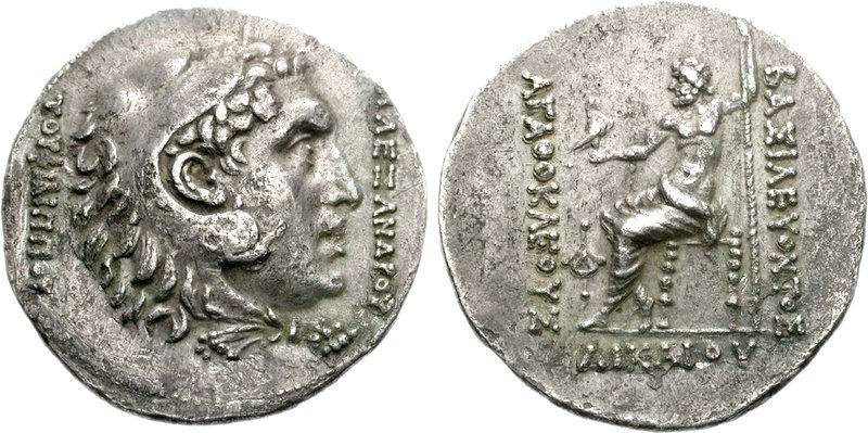 Agathokles commemorative coin for Alexander the Great
