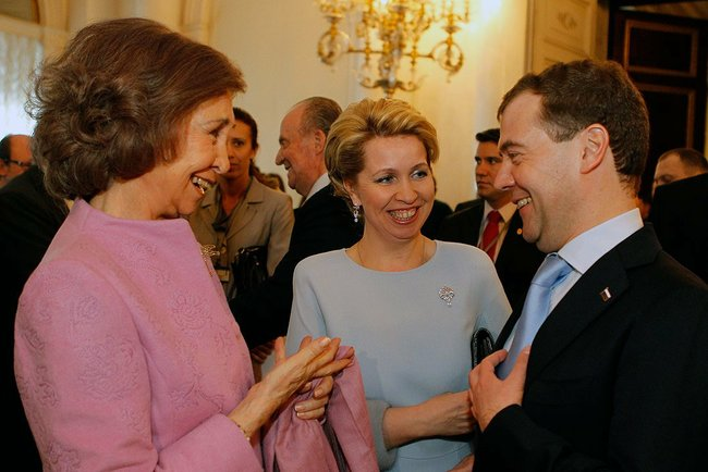 Dmitry Medvedev and Queen Sofia of Spain 24 feb 2011