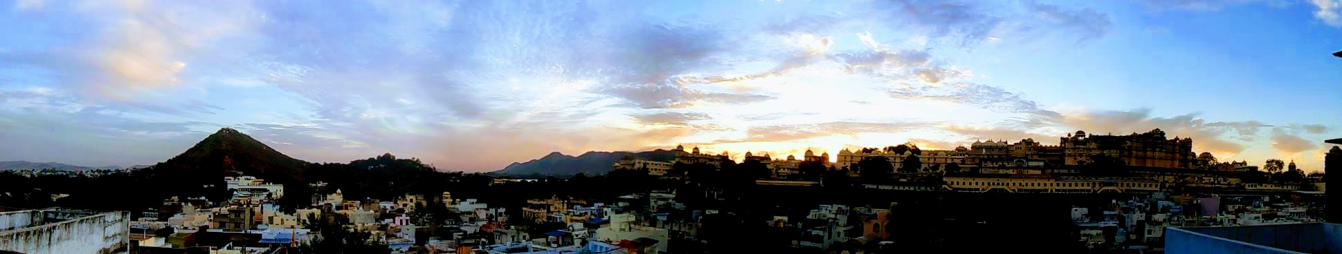 Panoroma of Old City od Udaipur