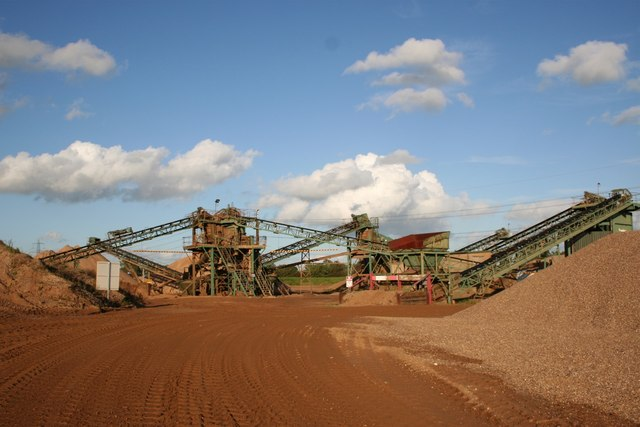 Aggregate extraction works - geograph.org.uk - 264548