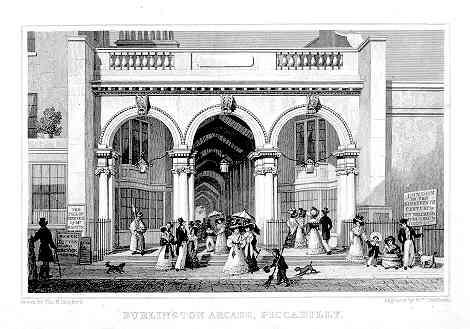 Burlington Arcade by Thomas Hosmer Shepherd 1827-28