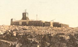 Archive photograph of Ben Nevis observatory (detail)