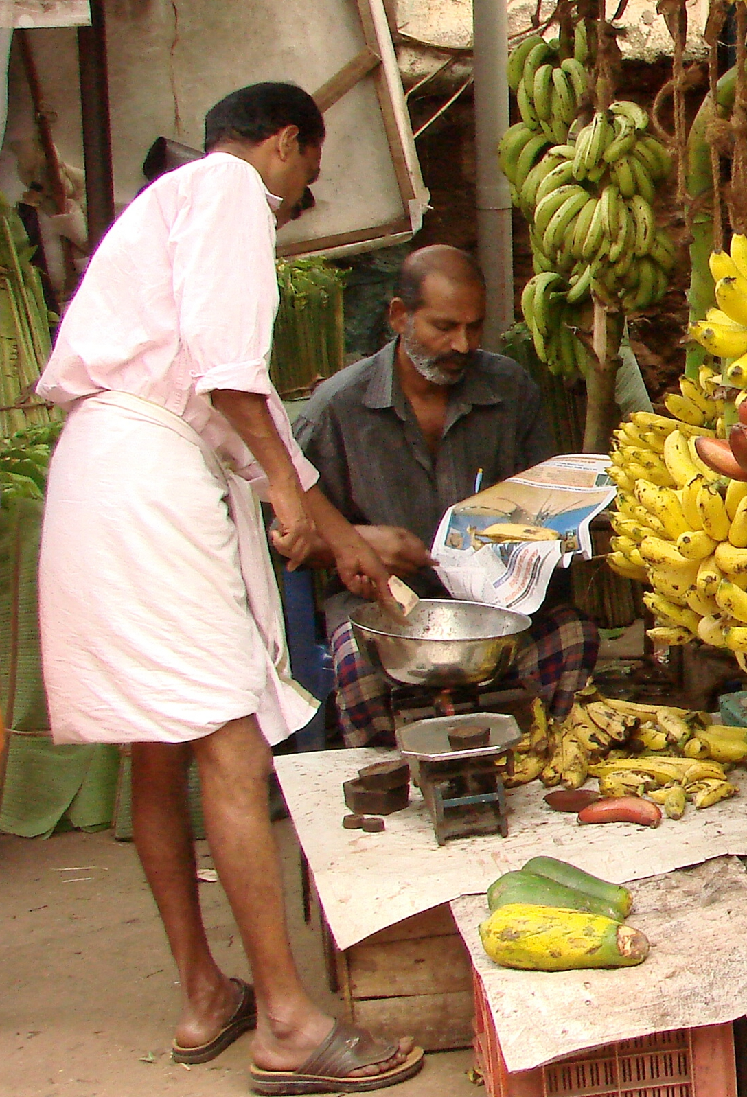 Half Bananas for Sale at Market - Trivandrum - Kerala - India