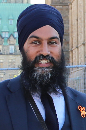 Jagmeet Singh at the 2nd National Bike Summit - Ottawa - 2018 (42481105871) (cropped v2)